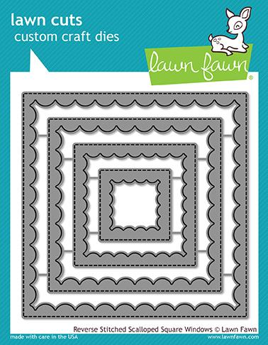 Lawn Fawn - Reverse Stitched Scalloped Square Windows