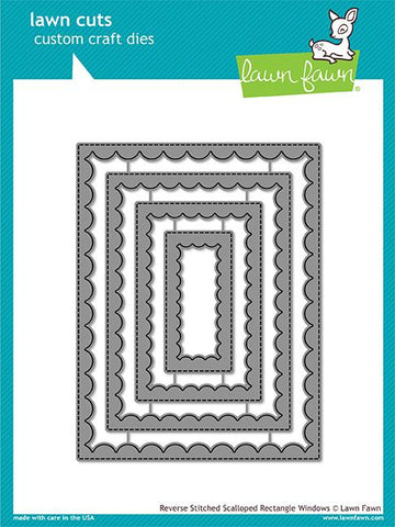 Lawn Fawn - Reverse Stitched Scalloped Rectangle Windows