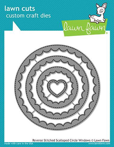 Lawn Fawn - Reverse Stitched Scalloped Circle Windows