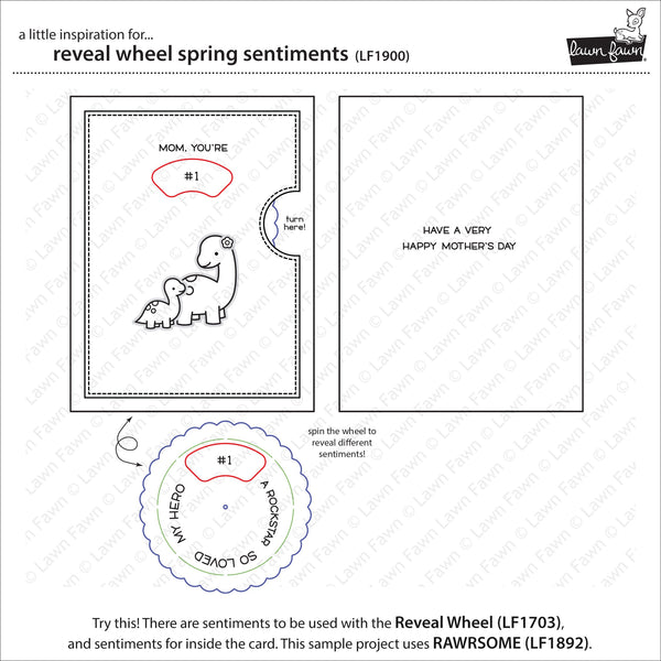 Lawn Fawn - Reveal Wheel Spring Sentiments