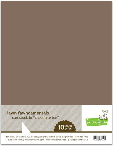 Lawn Fawn - Chocolate Bar Cardstock