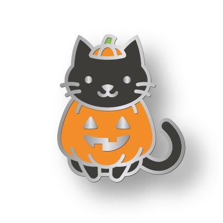 Lawn Fawn - Cat-o'-Latern Enamel Pin
