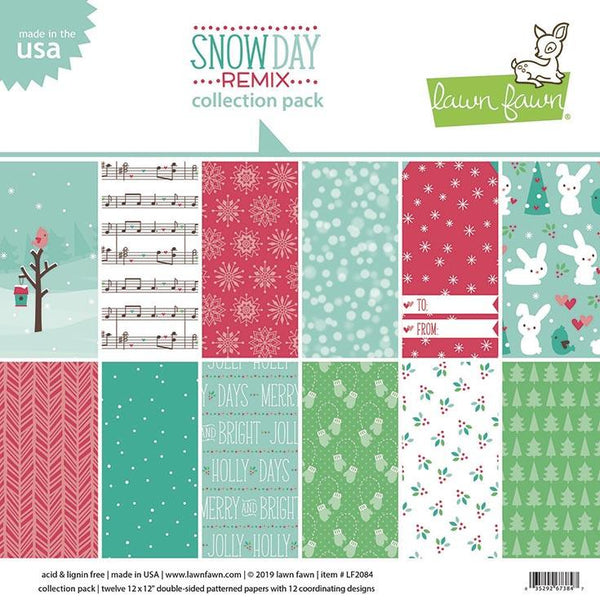 Lawn Fawn - Snow Day Remix Collection Pack 12x12""