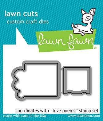 Lawn Fawn - Love Poems - Lawn Cuts