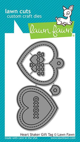 Lawn Fawn - Heart Shaker Gift Tag