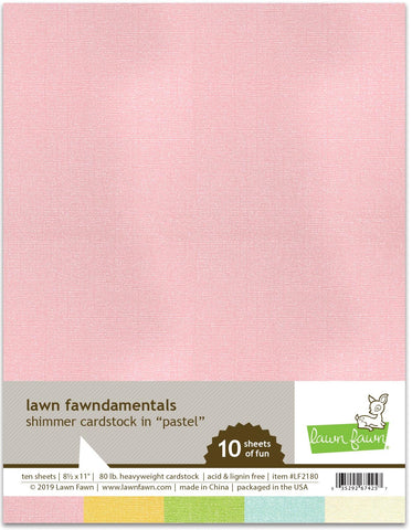 Lawn Fawn - Shimmer Cardstock - Pastel