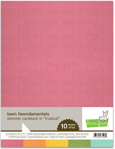 Lawn Fawn - Shimmer Cardstock - Tropical