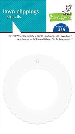 Lawn Fawn - Reveal Wheel Templates: Circle Sentiments