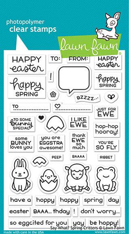 Lawn Fawn - Say What? Spring Critters