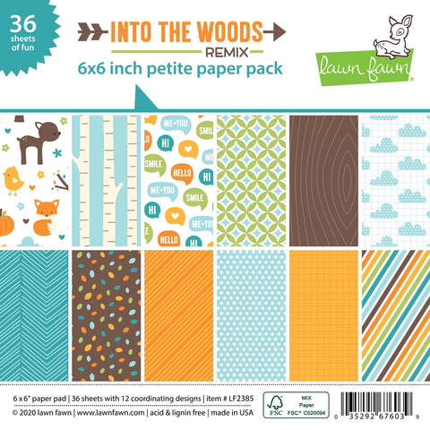 Lawn Fawn - Into The Woods Remix - Petite Paper Pack