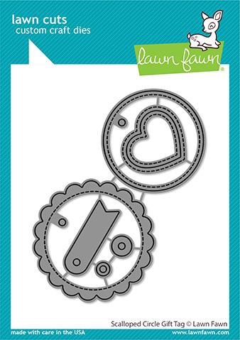 Lawn Fawn - Scalloped Circle Gift Tag