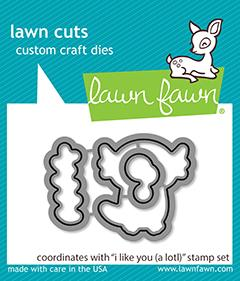 Lawn Fawn - I Like You (A Lotl) Lawn Cuts