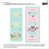 Lawn Fawn - Scalloped Slimline With Hearts: Portrait