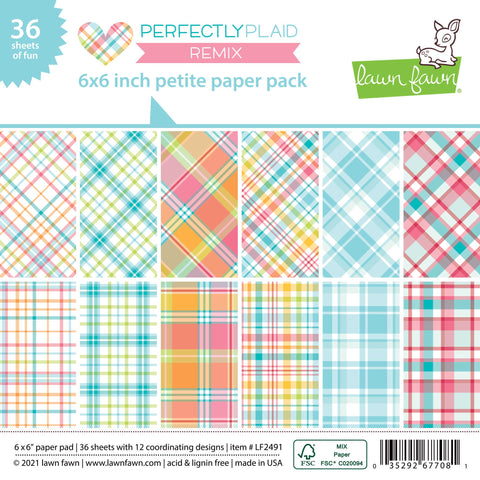 Lawn Fawn - Perfectly Plaid Remix Petite Paper Pack