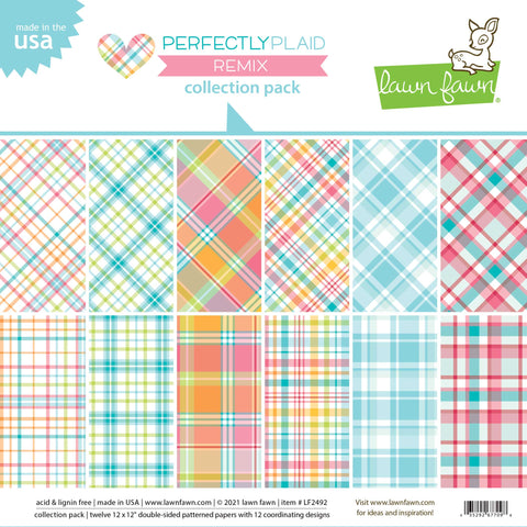 Lawn Fawn - Perfectly Plaid Remix Collection Pack