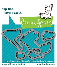 Lawn Fawn - Butterfly Kisses Flip-Flop - Lawn Cuts