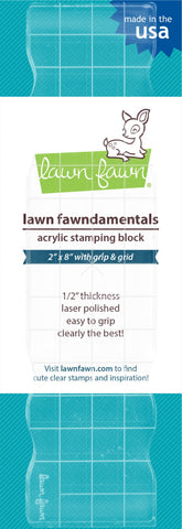 "Lawn Fawn - 2""x8"" grip block with grid"