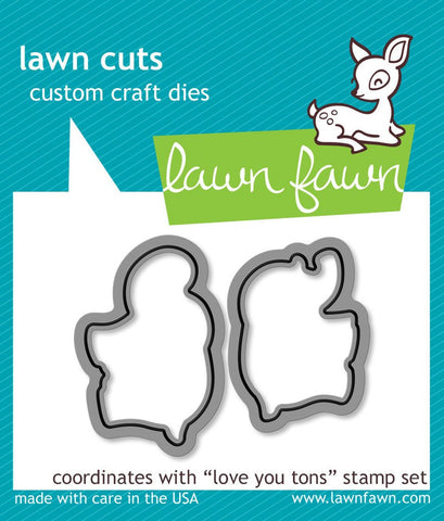 Lawn Fawn - Love You Tons Lawn-Cuts
