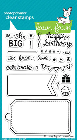 Lawn Fawn - Birthday Tags