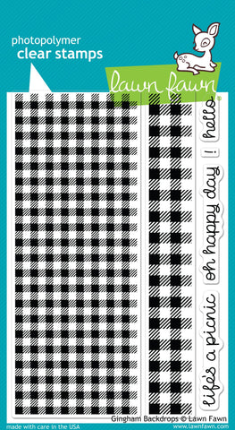 Lawn Fawn - gingham backdrops