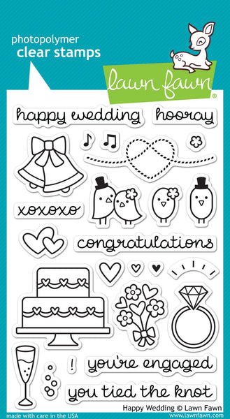 Lawn Fawn - Happy Wedding