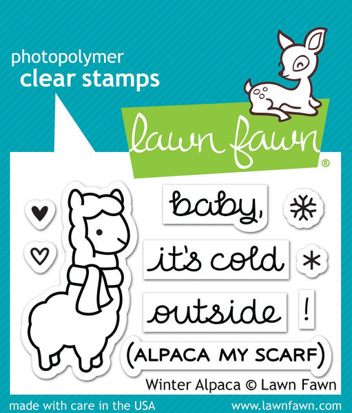 Lawn Fawn Clear Stamp Winter Alpaca