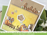 Lawn Fawn - sparkle cardstock - autumn