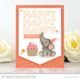 My Favorite Things - Happy Happy Happy Birthday Clear Stamps