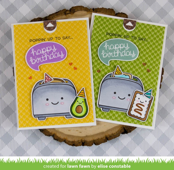 Lawn Fawn - let's toast pull tab add-on