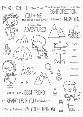 My Favorite Things - Adorable Adventures Clear Stamps
