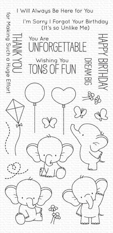 My Favorite Things - Adorable Elephants Clear Stamps