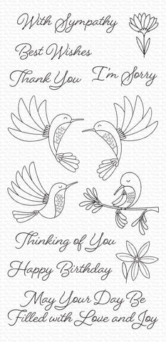 My Favorite Things - Happy Hummingbirds Clear Stamps
