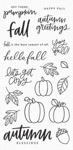 My Favorite Things - Autumn Blessings Clear Stamps