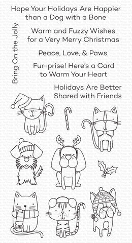My Favorite Things - Peace, Love, & Paws Clear Stamps