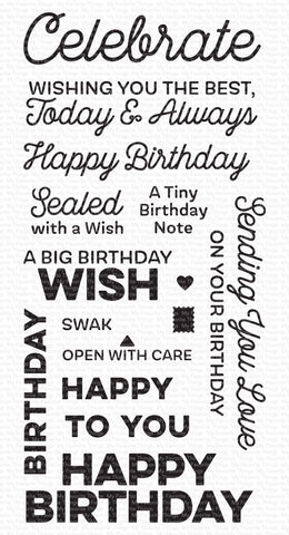 My Favorite Things - Big Birthday Wishes Clear Stamps