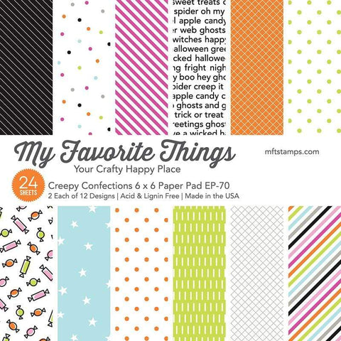 My Favorite Things - Creepy Confections 6x6 Inch Paper Pad