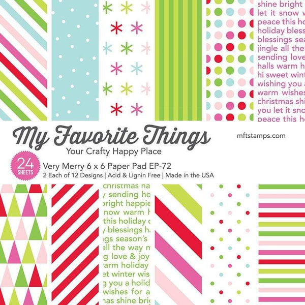My Favorite Things - Very Merry 6x6 Inch Paper Pad