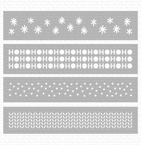 My Favorite Things - Winter Stencil Strips Stencil