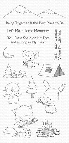My Favorite Things - Happy Campers Clear Stamps