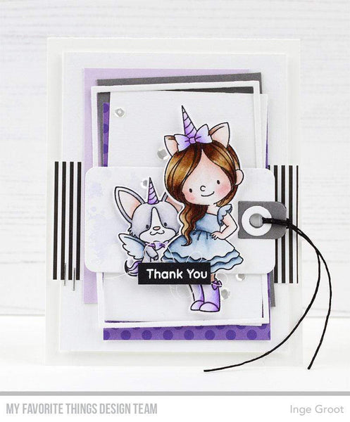 My Favorite Things - Unicorns and Glitter Clear Stamps