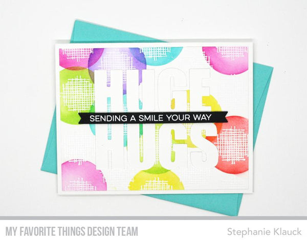 My Favorite Things - Crosshatch Polka Dot Background Stamp