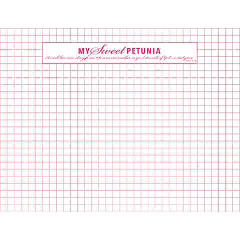 My Sweet Petunia - Original MISTI Grid Paper Pad - Double Sided