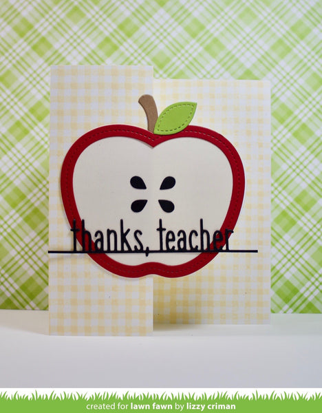 Lawn Fawn - outside in stitched apple stackables