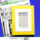 Picket Fence Studios - I Work For Watercolor Clear Stamps