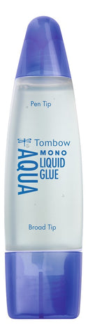 Tombow - liquid glue aqua 50ml with two tips blister