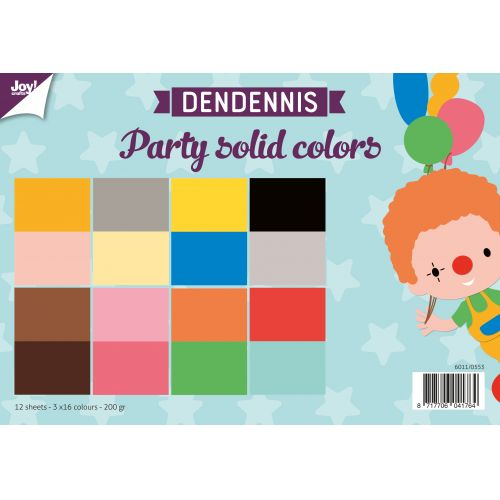 Dendennis - Party! Paper pack  Solid Colors