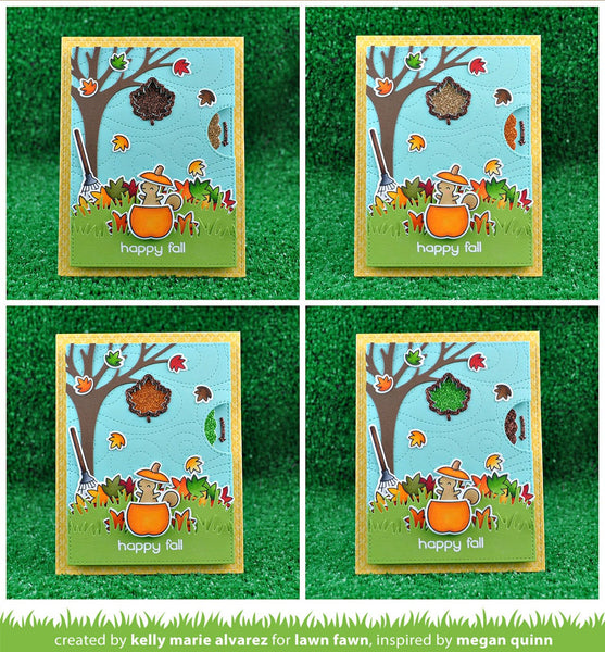 Lawn Fawn - reveal wheel fall leaf add-on