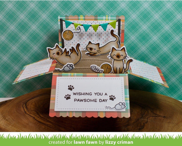 Lawn Fawn - Scalloped Box Card Pop-Up Dies