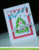 Lawn Fawn - stitched christmas tree frames
