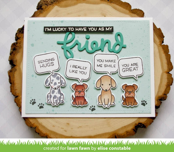 Lawn Fawn - Reveal Wheel Friends & Family Sentiments